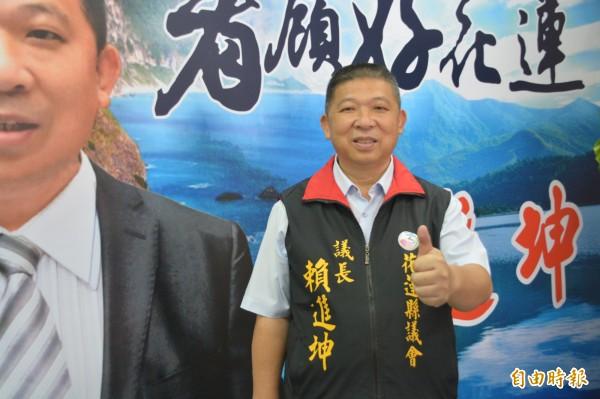 國民黨籍花蓮議長賴進坤明早將在花蓮市區成立服務處,擴大服務範圍。(記者王峻祺攝)