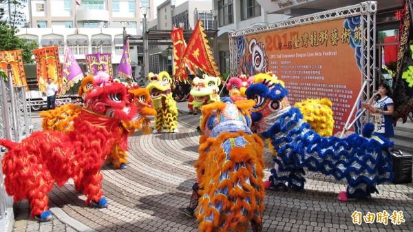 朴子市公所將舉辦龍獅藝術節。(記者林宜樟攝)
