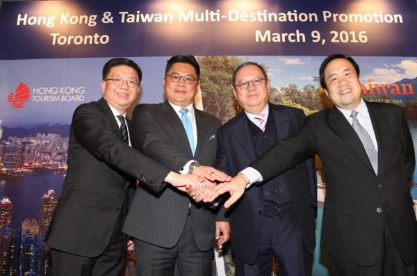 觀光局副局長劉喜臨(左二)去年就已帶團赴美宣傳台灣旅遊(圖:觀光局提供)