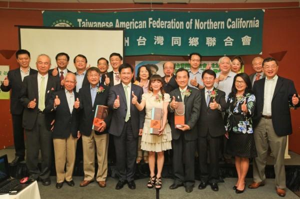 林佳龍受邀出席美國台僑晚宴,並發表約1小時的演說。(林佳龍辦公室提供)