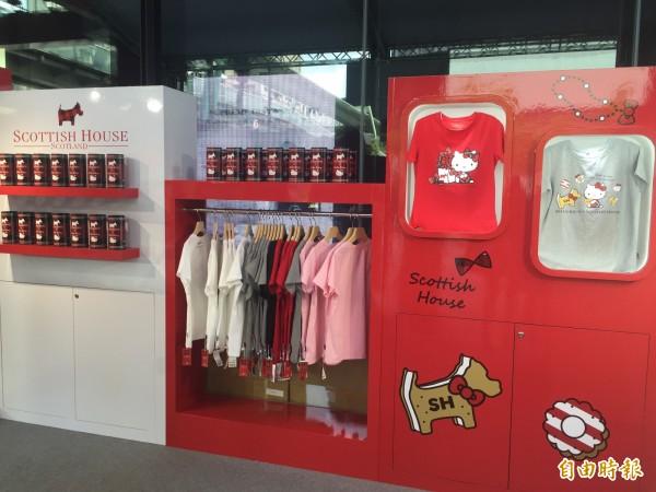 台灣少女裝龍頭Scottish House首度和Hello Kitty聯名,首波快閃店吸引大批人潮。(記者卓怡君攝)