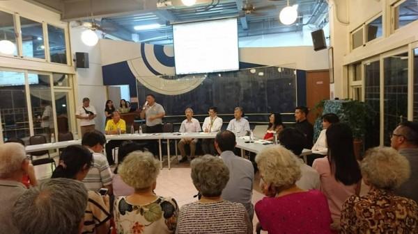 新竹市綠水里居民反對交大在博愛校區設急重症醫院,已在臉書成立自救會社團進行串聯和連署。(照片取自臉書社團)