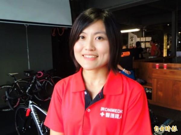 醫鐵成員之一的北榮胸腔部總醫師洪緯欣表示,協助選手完賽,比自己完賽還快樂。(記者黃旭磊攝)