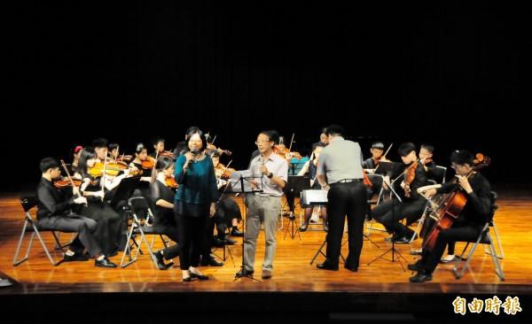 靜宜大學舉行國際音樂節。(記者張軒哲攝)