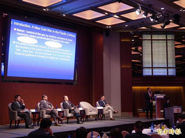 政大國關中心等單位今舉辦「海事爭端與海洋市場機會:如何促進亞洲的海洋合作」研討會。(記者呂伊萱攝)