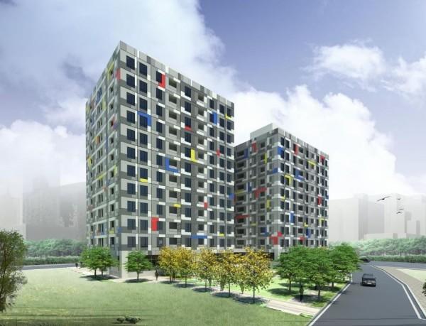新北市政府辦理三峽國光段青年社會住宅新建統包工程,本月完成招標,首期將興建241戶。(城鄉發展局提供)