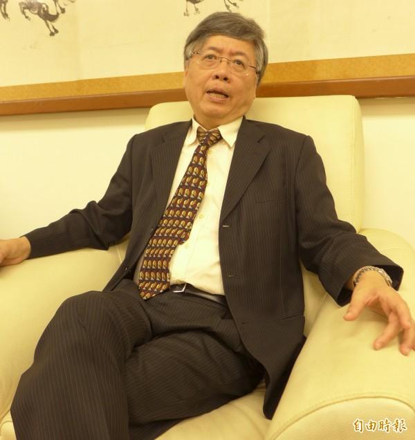 輔仁大學校長江漢聲是輔大醫院的推手。(記者李雅雯攝)