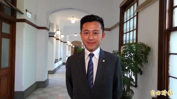 新竹市長林智堅在縣市首長的施政滿意度是全國第三名,已成綠營縣市長政治明星,對此,他說,「好還要更好」。(記者洪美秀攝)