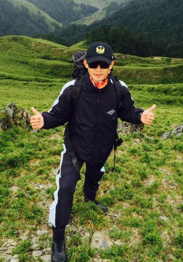 當天協助女學生車禍救護的消防隊員蕭任甫。(後龍消防分隊提供)