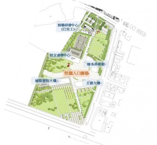 國立台灣科技大學新竹校區校園整體規劃藍圖。(國立台灣科技大學提供)