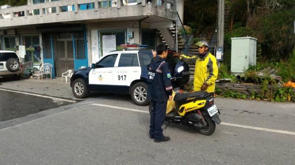 警方勸阻遊客近日切勿進入太魯閣山區遊憩。(警方提供)