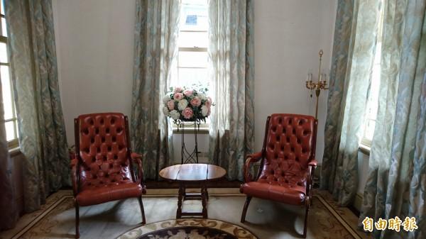 修復後的原台南廳長官邸古蹟,內部維持當年風貌。(記者洪瑞琴攝)