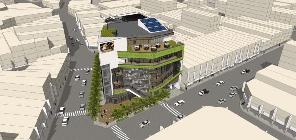 「中壢第一公有零售市場新建工程」的完工模擬圖。(圖由桃園市政府提供)
