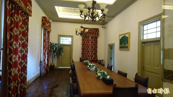 市府投入2500萬元修護的原台南廳長官邸古蹟,目前作台南市長招待所,10月起定期開放參觀。(記者洪瑞琴攝)