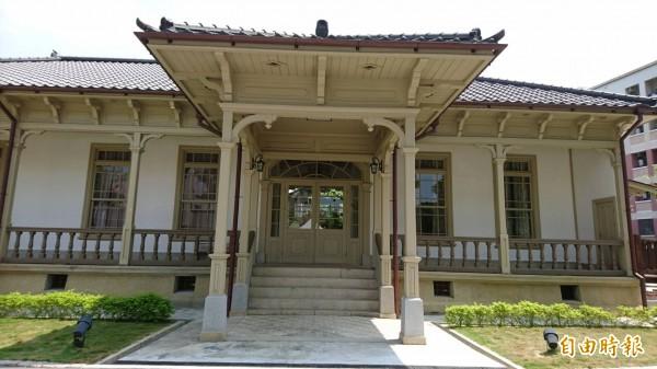 原台南廳長官邸古蹟,目前作台南市長招待所,10月起定期開放參觀。(記者洪瑞琴攝)
