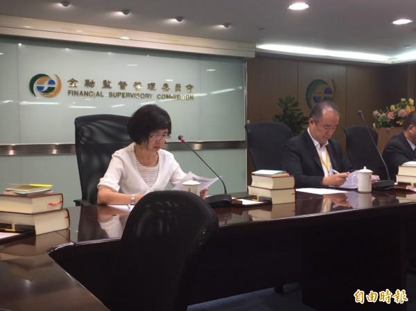 金管會銀行局副局長莊琇媛表示,所轄16家金融證券周邊單位,比照軍公教人員明年加薪3%。(記者王孟倫攝)