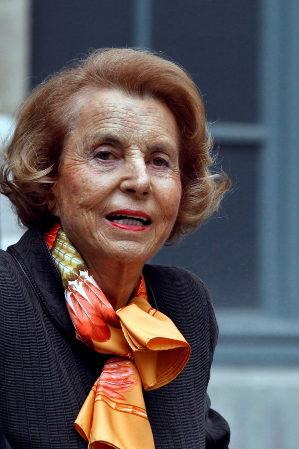 全球最有錢的女人莉莉安娜.貝登古20日過世,享耆壽94歲。(法新社檔案照)