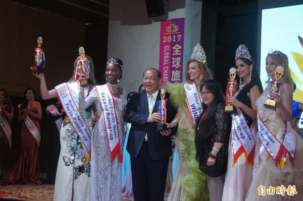 全球旅遊皇后選美,獲得前5名的佳麗。(記者劉禹慶攝)