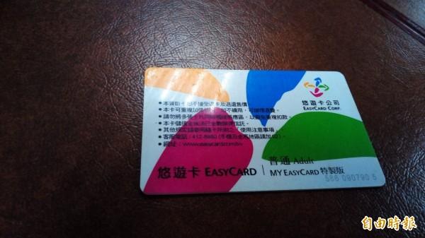 悠遊卡公司與中正大學合作,讓校內所有消費都可以用悠遊卡付費。(記者黃建豪攝)