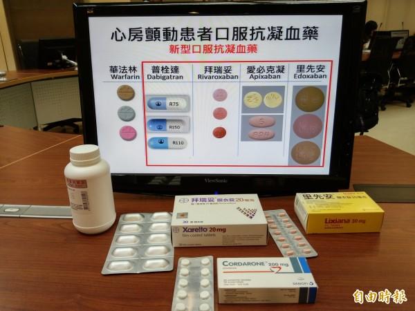 長庚醫院研究團隊發現,新型抗凝血藥物最好避免和其它藥物合併使用。(記者吳亮儀攝)
