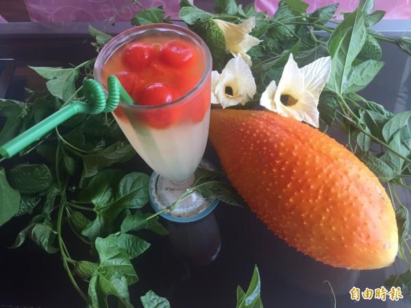 木虌果果汁很清爽。(記者張存薇攝)