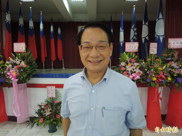 國民黨新竹市黨部主委呂學樟說新竹市長的選舉提名作業應會以特別辦法協調人選產生。(記者洪美秀攝)