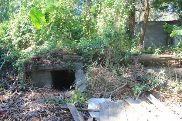 竹東林場宿舍區內保留防空洞等歷史遺跡。(中冶環境造形顧問公司提供)