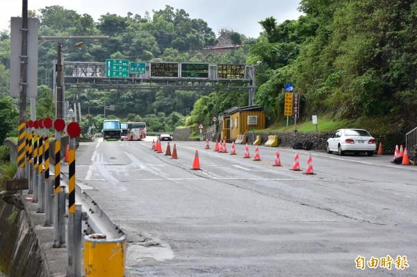 預估今明兩日蘇花公路沿線仍有強降雨,考量行車安全,公路總局不排除預警性封路。圖為蘇花公路南下路口。(記者張議晨攝)