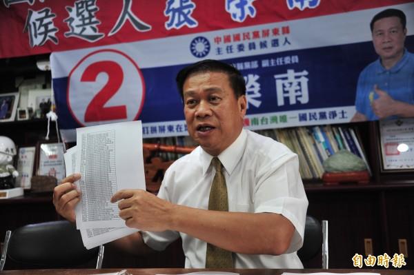 張榮南嘆主委選舉不公。(記者蔡宗憲攝)