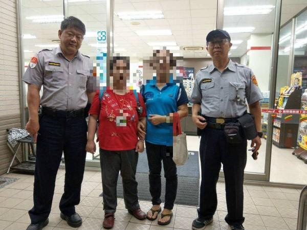 高雄捷運警察隊派警車讓母女會合(捷警隊提供)
