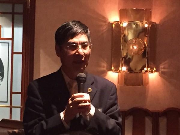 科技部長陳良基上任後首次訪問華府。(記者曹郁芬攝)
