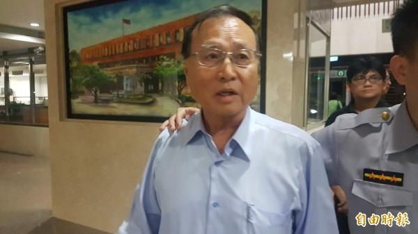 中投前董事長張哲琛,今晚被移送北檢。(記者錢利忠攝)
