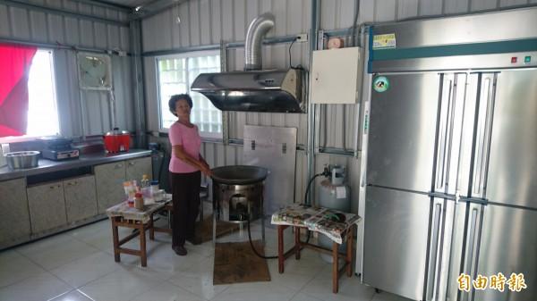 在慈揚社會福利慈善事業基金會的捐助下,愛心廚房設備一應俱全。(記者楊金城攝)