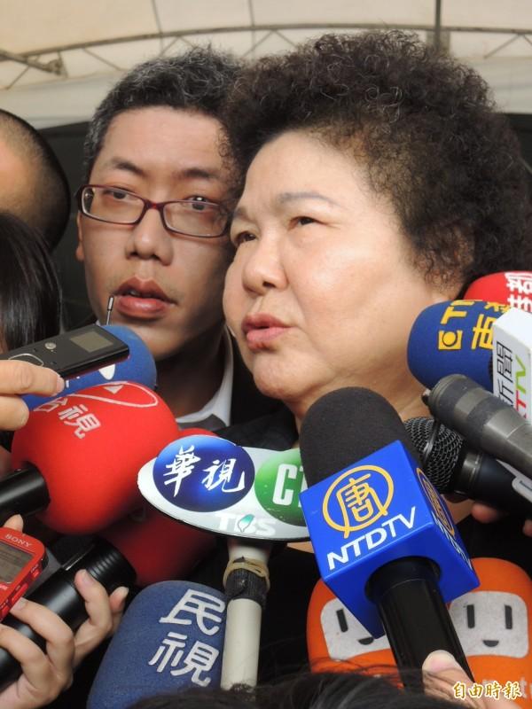 高市新聞局長丁允恭(左)證實,將接任政院顧問。(記者王榮祥攝)