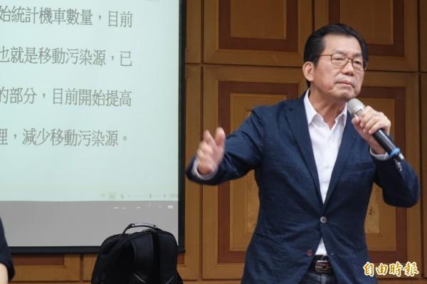 環保署長李應元今天出席中區環保座談會。(記者劉曉欣攝)