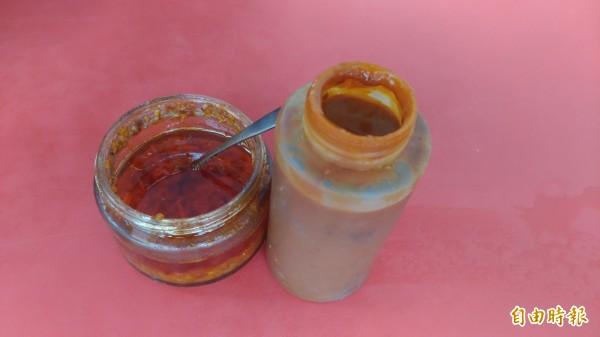 這家店連辣椒醬都是自己種自己做的。(記者廖淑玲攝)