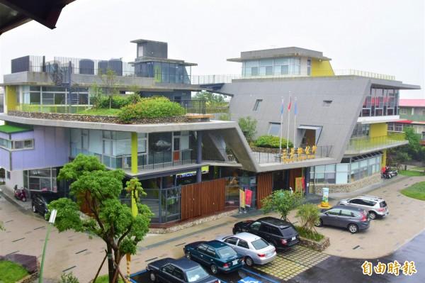 三星鄉公所入圍今年度台灣建築獎。(記者張議晨攝)