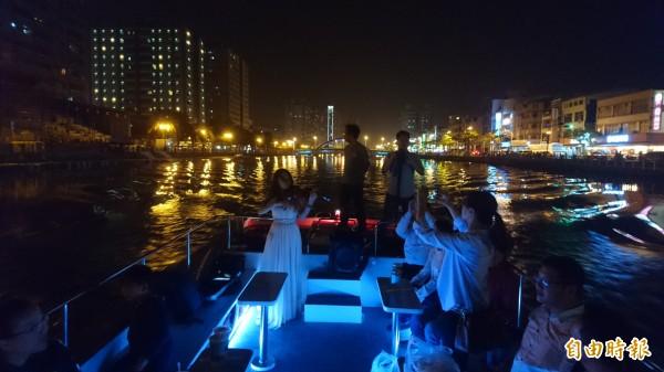台南運河預計年底前重啟遊船。(記者劉婉君攝)