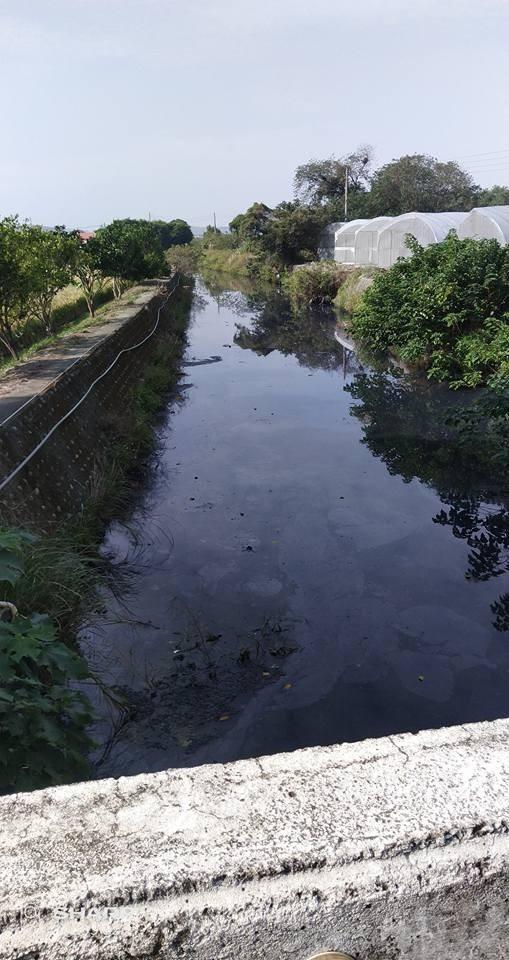 民眾擔心工廠排放污水會經溝渠污染附近農田。(翻攝自臉書「竹南大小事!」)