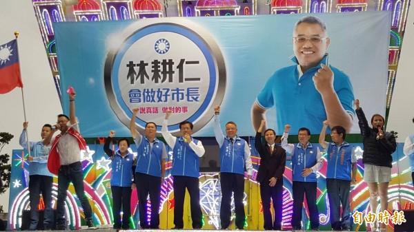 新竹市議員林耕仁爭取黨內提名,角逐下屆新竹市長,舉辦首場問政說明會。(記者蔡彰盛攝)