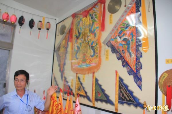 頂中街的進水宮七角頭文物館,保存了七角頭許多迎王時、迓媽祖的文物。(記者陳彥廷攝)