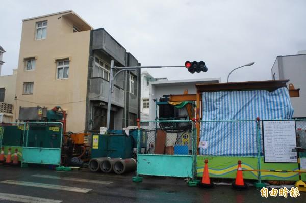 澎湖許多公共工程喜歡周休二日施工,一旦發生狀況應變不及。(記者劉禹慶攝)