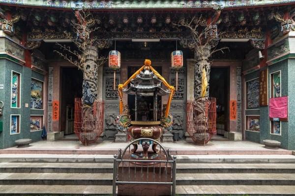 嘉義市慈濟宮(王爺廟)位於國華街。(記者丁偉杰翻攝)