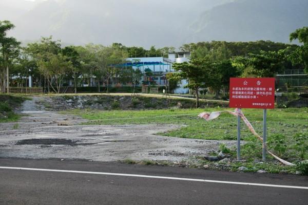 長濱衛生所遷建新址部分用地為長濱國小用地。(記者王秀亭翻攝)
