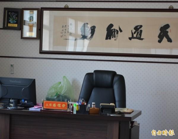 彰化市代會主席楊惟欽因涉及納骨塔工程弊案被收押,今天缺席定期會開議。(記者湯世名攝)