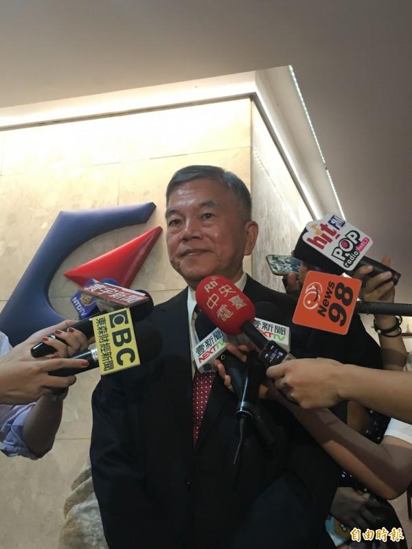 經濟部長沈榮津今表示,目前還未與高通談過,但有機會的話會再與高通談一下,將再安排會面。(記者黃佩君攝)