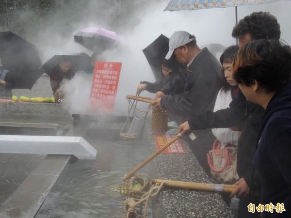 清水地熱公園煮食池。(資料照,記者江志雄攝)