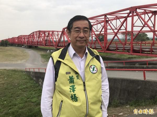 現任雲林縣議員蕭澤梧執意參選西螺鎮長,挑戰現任優先。(記者廖淑玲攝)