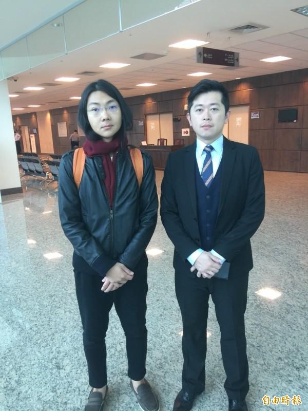葉繼元(左)與律師郭德田強調一定會上訴。(記者吳政峰攝)