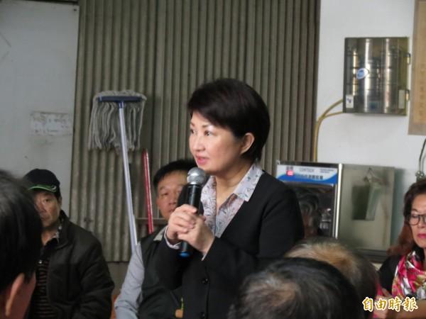 盧秀燕表示,國民黨初選只要公平公正公開、訴諸民意的方式,她都可以接受。(記者蘇金鳳攝)